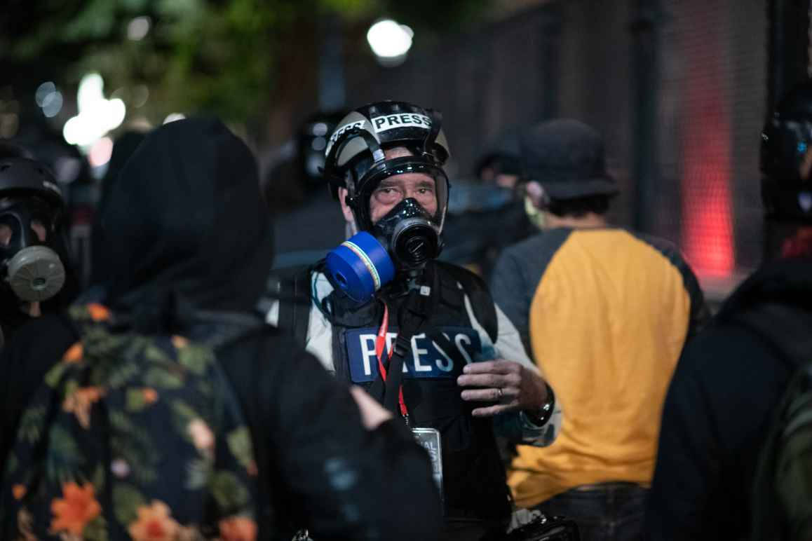 Press documenting Portland protests