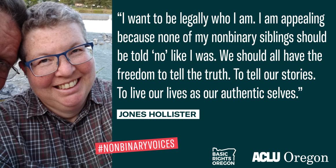 Jones Hollister photo and quote