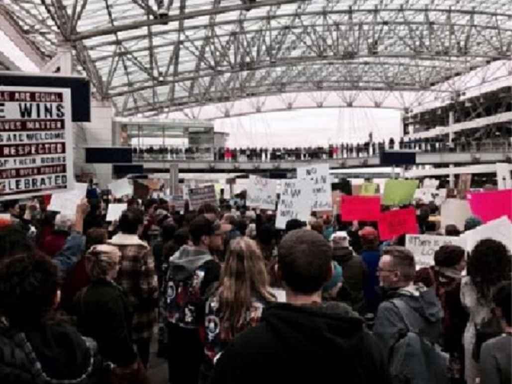 Portland International Airport Protestors