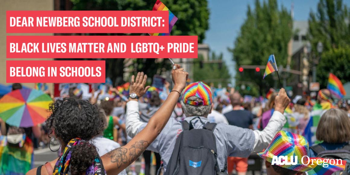 BLM and Pride Belong In Schools