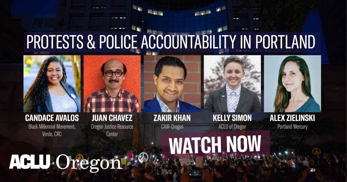 Webinar: Protests & Police Accountability in Portland