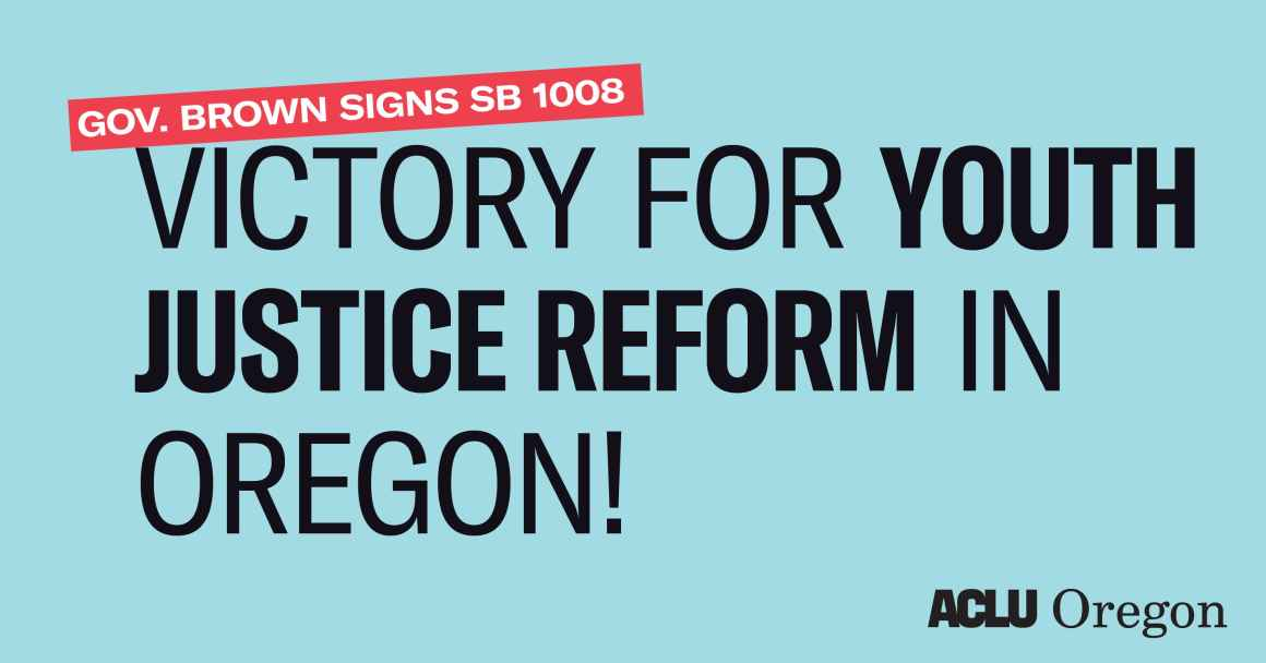 victory for youth justice reform in oregon banner
