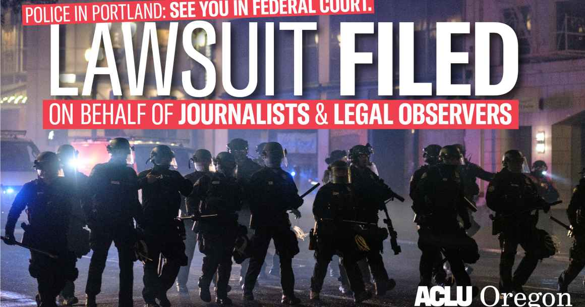 Lawsuit filed on behalf of journalists and legal observers
