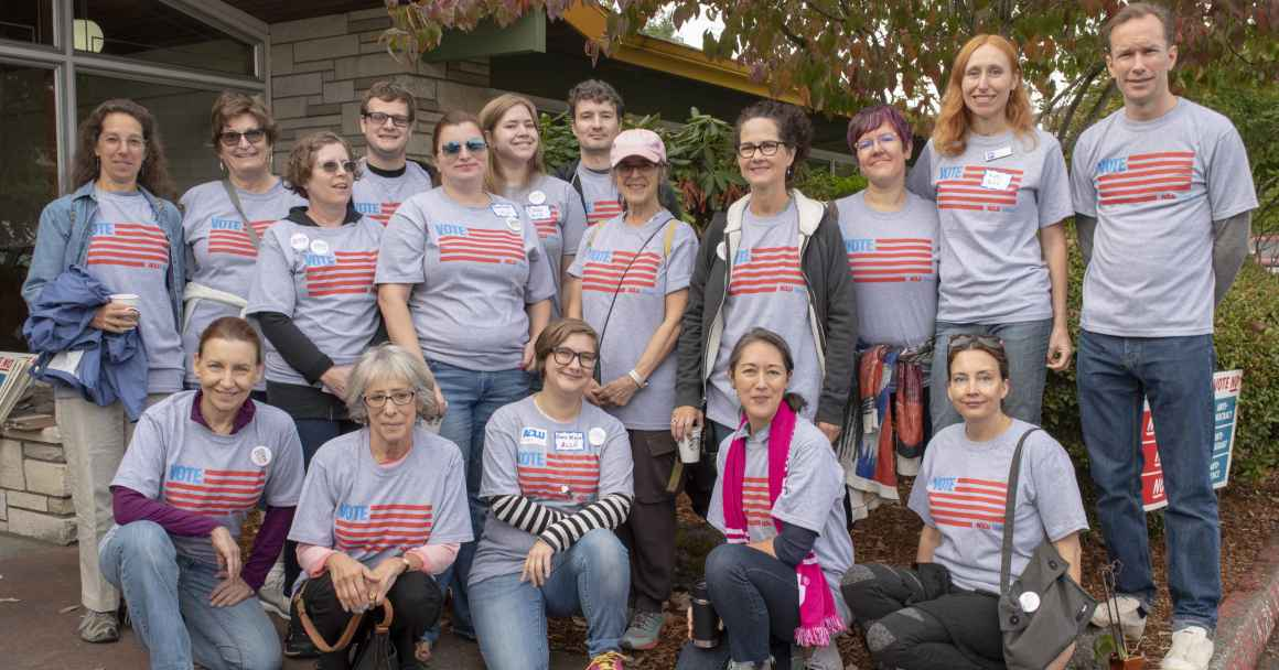 ACLU volunteers for No on 105 and No on 106